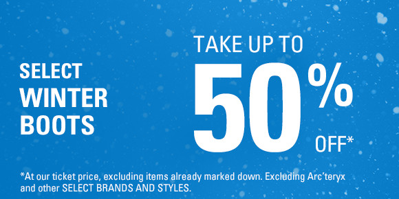 Winter boots up to 50% off