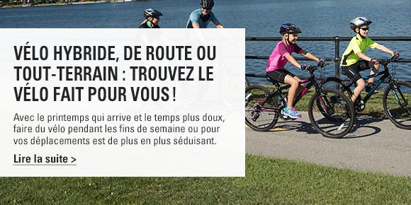 Vélo hybride, de route ou tout-terrain : Trouvez le vélo fait pour vous !