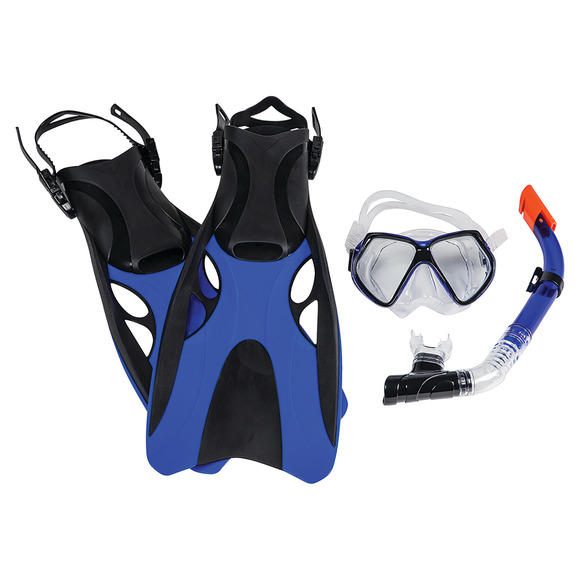 Montego Bay Super Kit Sr - Adult Mask, Snorkel and Fins