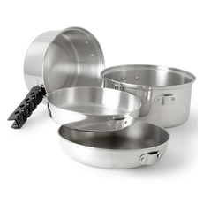 Glacier Stainless - 6 Pieces Camping Cooking Set