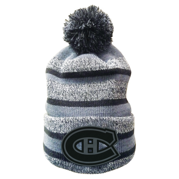Fleece Heathered Cuffed Pom - Adult's Tuque - Montreal Canadiens