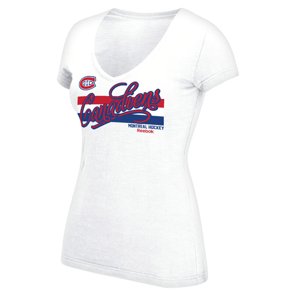 Script Authentic Stripes - T-shirt pour femme - Canadiens de Montréal
