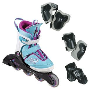 Marlee Pro Pack - Ensemble de patins à roues alignées ajustables pour fille