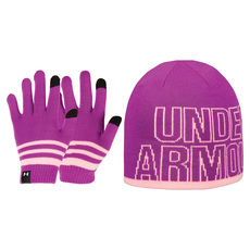 Combo Jr - Girls' Beanie and Gloves