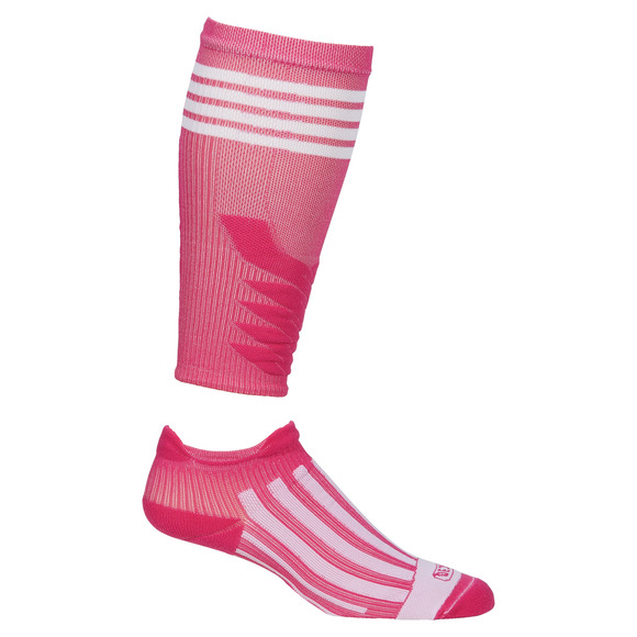 Combo Hybride - Adult Compression Calf Sleeves and Ankle Socks