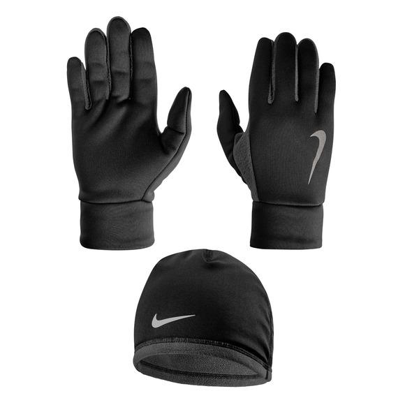 Thermal - Ensemble de tuque et gants de course pour homme