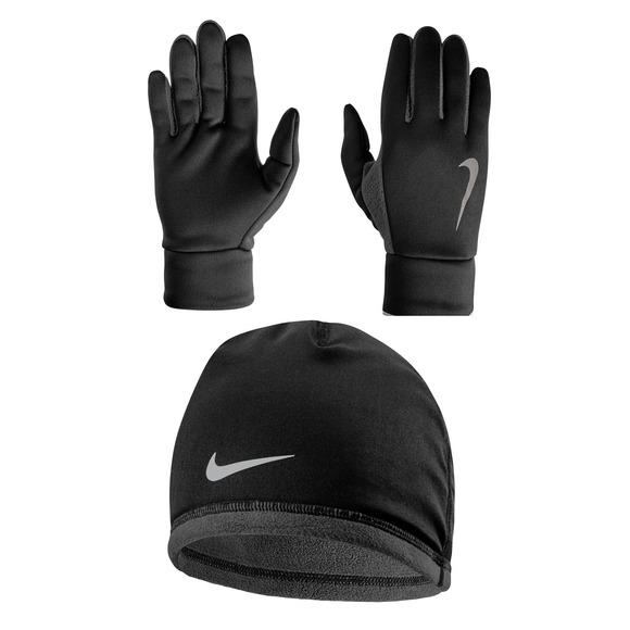 Thermal - Ensemble de tuque et gants de course pour femme