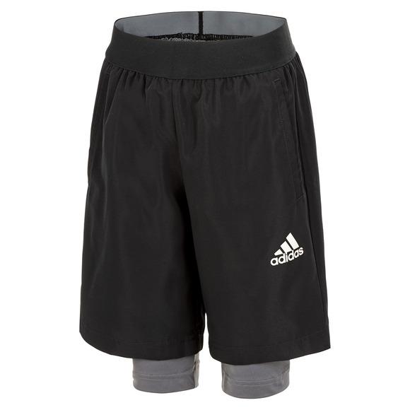 YB Urban Jr - Junior 2-in-1 Training Shorts