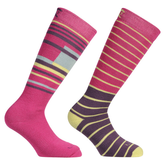Ski-Snowboard Merino - Women's Cushioned Ski Socks (Pack of 2)