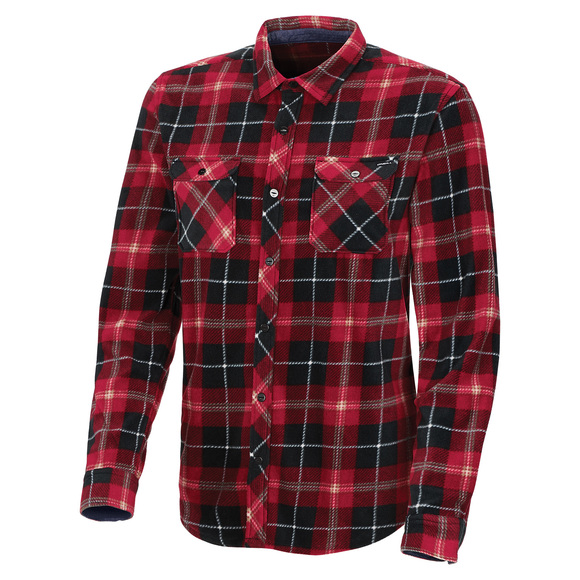 Glacier Plaid - Men's Long-Sleeved Shirt