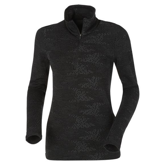 Vertex - Chandail de sous-vêtement à fermeture éclair au col pour femme