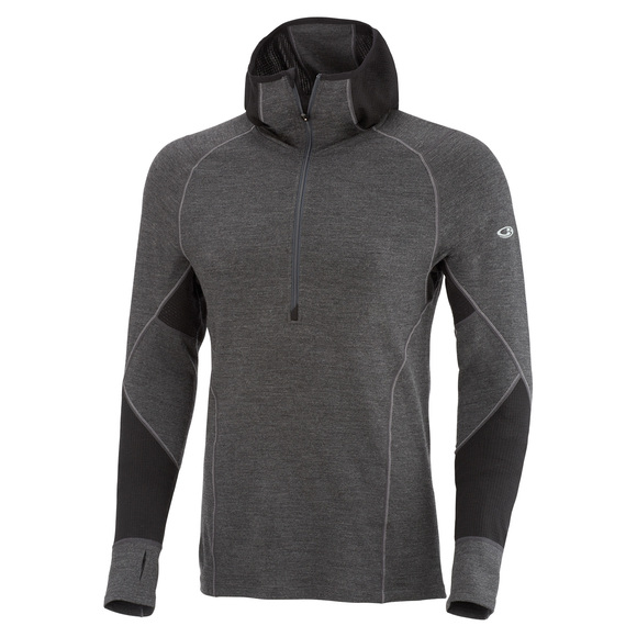 Winter Zone - Men's Baselayer Hooded Half-Zip Sweater