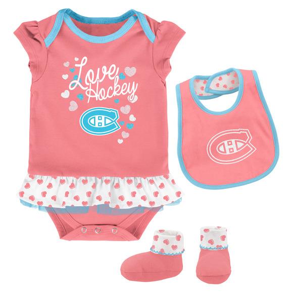 Pink Love Hockey - Ensemble pour bébé