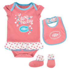 Pink Love Hockey - Babies' Set