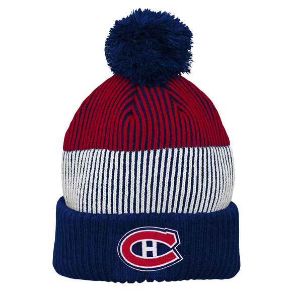 Team Stripe Cuff Pom Jr - Junior Tuque