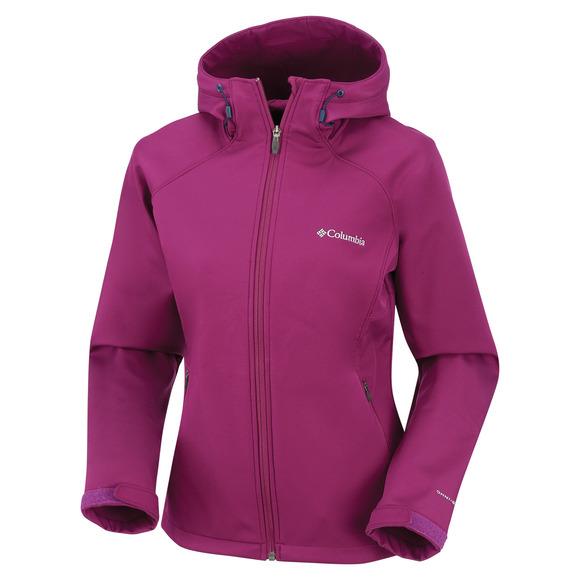 Alpine Night - Manteau softshell à capuchon pour femme