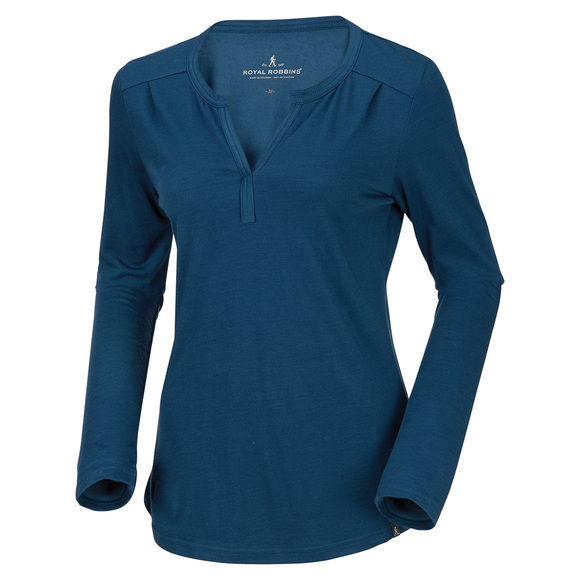 Go Everywhere - Women's Henley Long-Sleeved Shirt