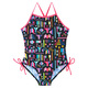 Adl Sides - Girls' One-Piece Swimsuit   - 0