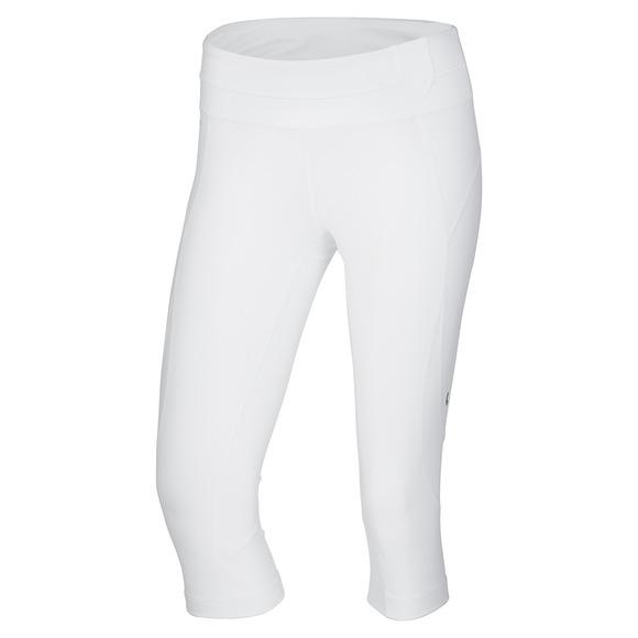 Anga White Tour - Women's Fitted Capri Pants