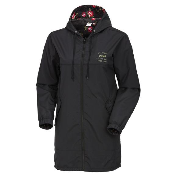 Mercy - Manteau réversible à capuchon pour femme