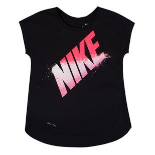 Block Spray K - Girls' T-Shirt