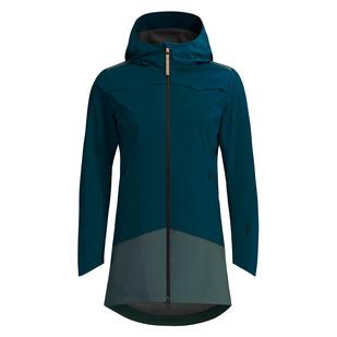 Choiva - Manteau de pluie à capuchon pour femme