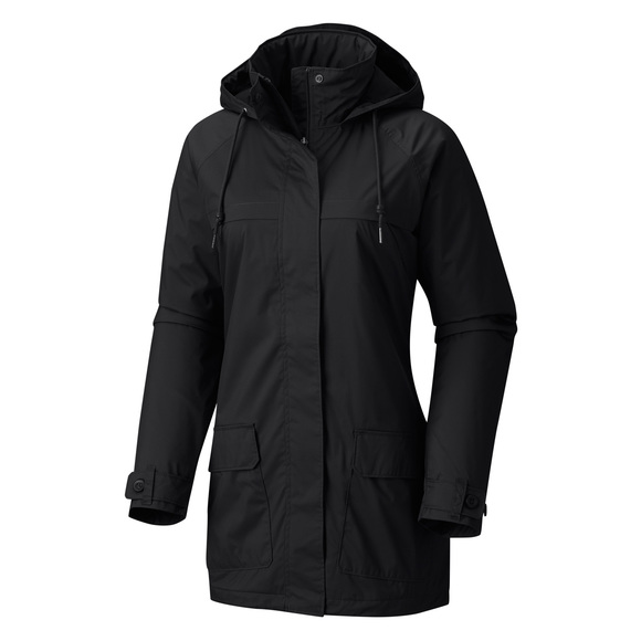 Lookout Crest (Plus Size) - Women's Hooded Rain Jacket