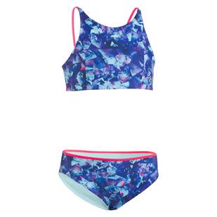 Metaquartz Reversible Jr - Girls' Two-Piece Swimsuit