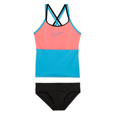 Color Surge Spiderback - Girls' Tankini