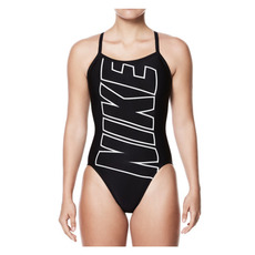 Logo Racerback - Women's One-Piece Training Swimsuit
