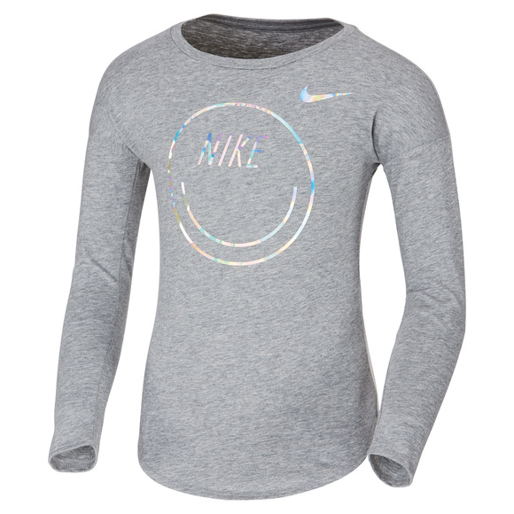 Smiley Modern - Girls' Long-Sleeved Shirt