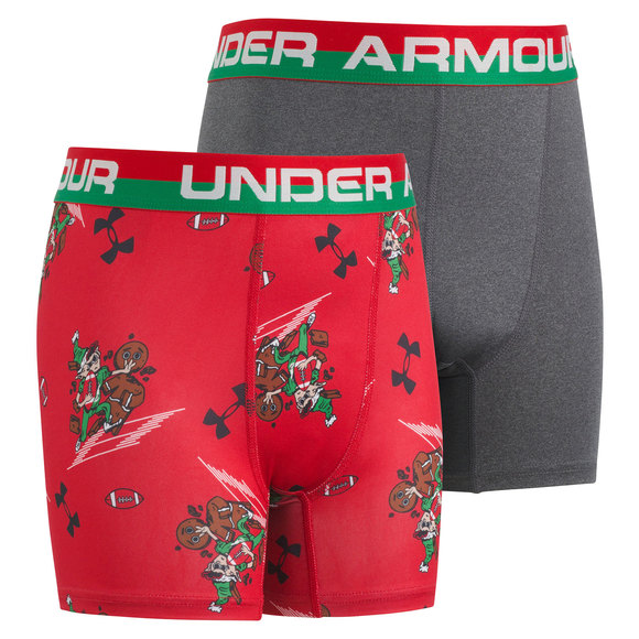 Holiday Elf/Solid - Fitted Boxer Shorts (Pack of 2)