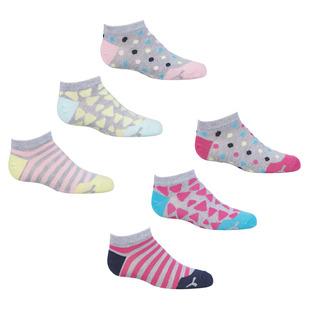 DG9763S18P - Socquettes pour fille (paquet de 6 paires)
