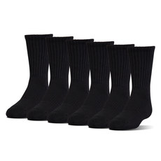 Charged Cotton 2.0 Crew - Men's Crew Socks (Pack of 6)