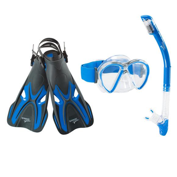 Reef Seeker Trio -  Adult Mask, Snorkel and Fins Set