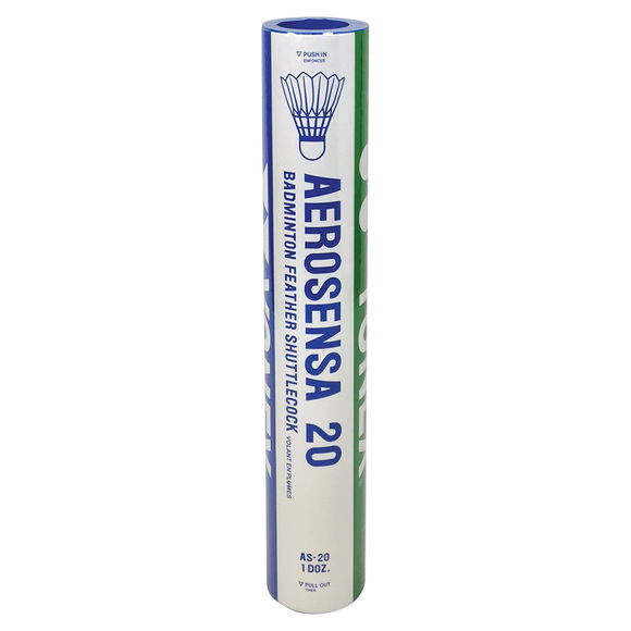 Aerosensa 20 - Feather shuttlecocks (Pack of 12)