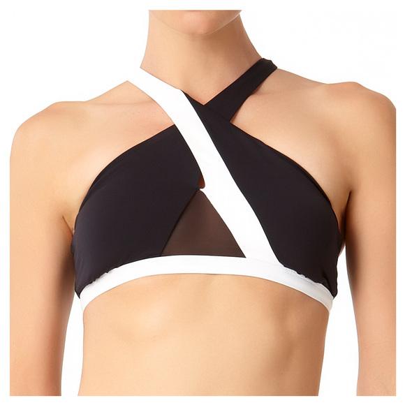 Hot Mesh - Haut de maillot à encolure haute pour femme