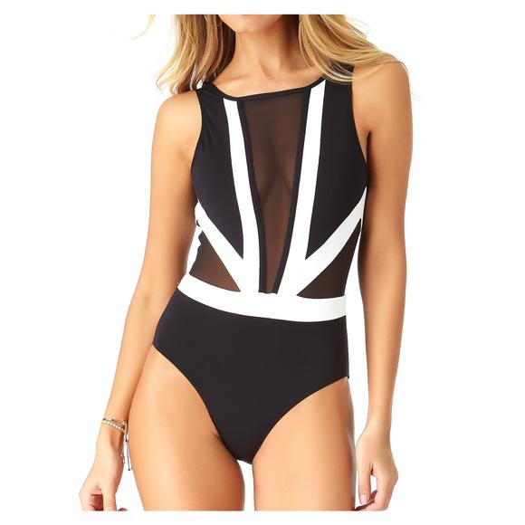 Hot Mesh - Women's One-Piece Swimsuit