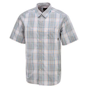 Down Plaid - Men's Short-Sleeved Shirt