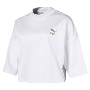 Retro - Women's 3/4-Sleeve Cropped Sweatshirt