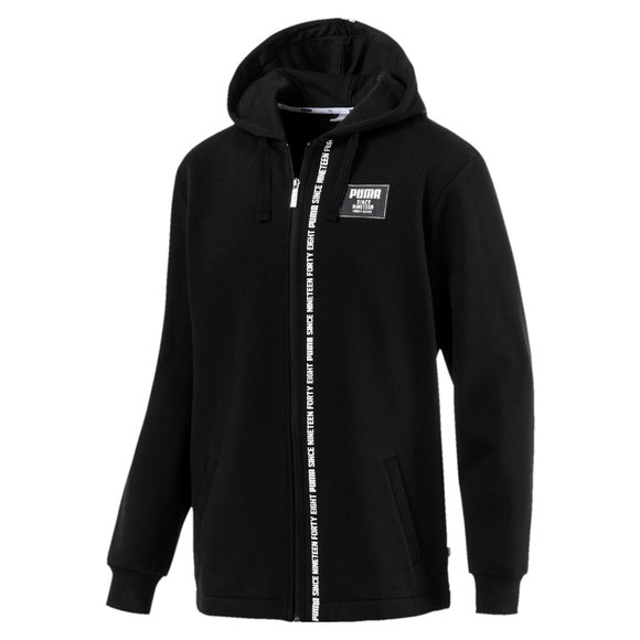 PUMA Rebel Block Men's Full Zip Fleece Hoodie