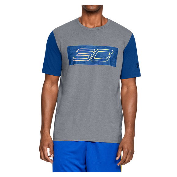 NWT UNDER ARMOUR MEN/'S BIG LOGO BASKET BALL CHARGED COTTON  LOOSE FIT T.SHIRTS