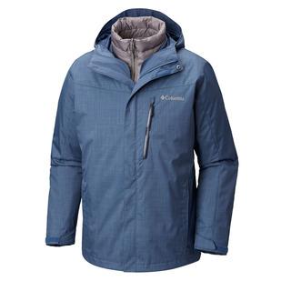 Whirlibird III IC - Manteau d'hiver à capuchon 3 en 1 pour homme