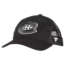 Black and White Brushed Trucker - Adult Adjustable Cap