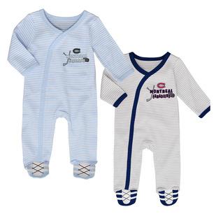 Coverall (3M-6M-9M) - Ensemble de 2 pyjamas pour nouveau-né