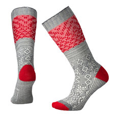 Snowflake Flurry - Women's Cushioned Crew Socks