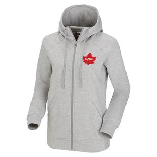 Canadian Olympic Team Leaf - Women's Fleece Full-Zip Hoodie