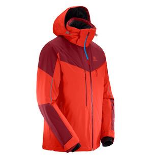 Icespeed - Manteau d'hiver à capuchon pour homme