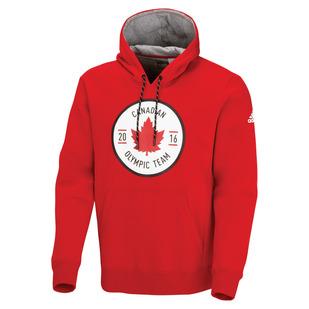 Canadian Olympic Team Crest - Men's Fleece Hoodie