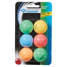 Color Popps - Table Tennis Balls (pack of 6)